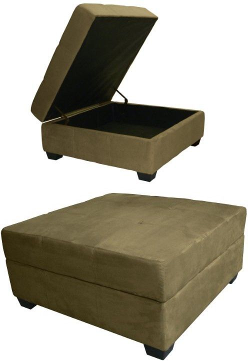 Epic Furnishings Vanderbilt 36-Inch Large Square Tufted Padded Hinged Storage  Ottoman Bench, Microfiber - Epic Furnishings Vanderbilt 36-Inch Large Square Tufted Padded
