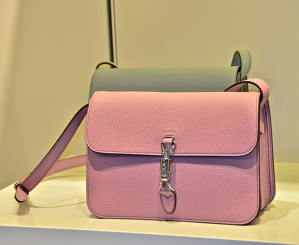 ddb8d4f61a0 pink leather small shoulder bag essential and happy as a candy. Gucci  Jackie Soft Bag