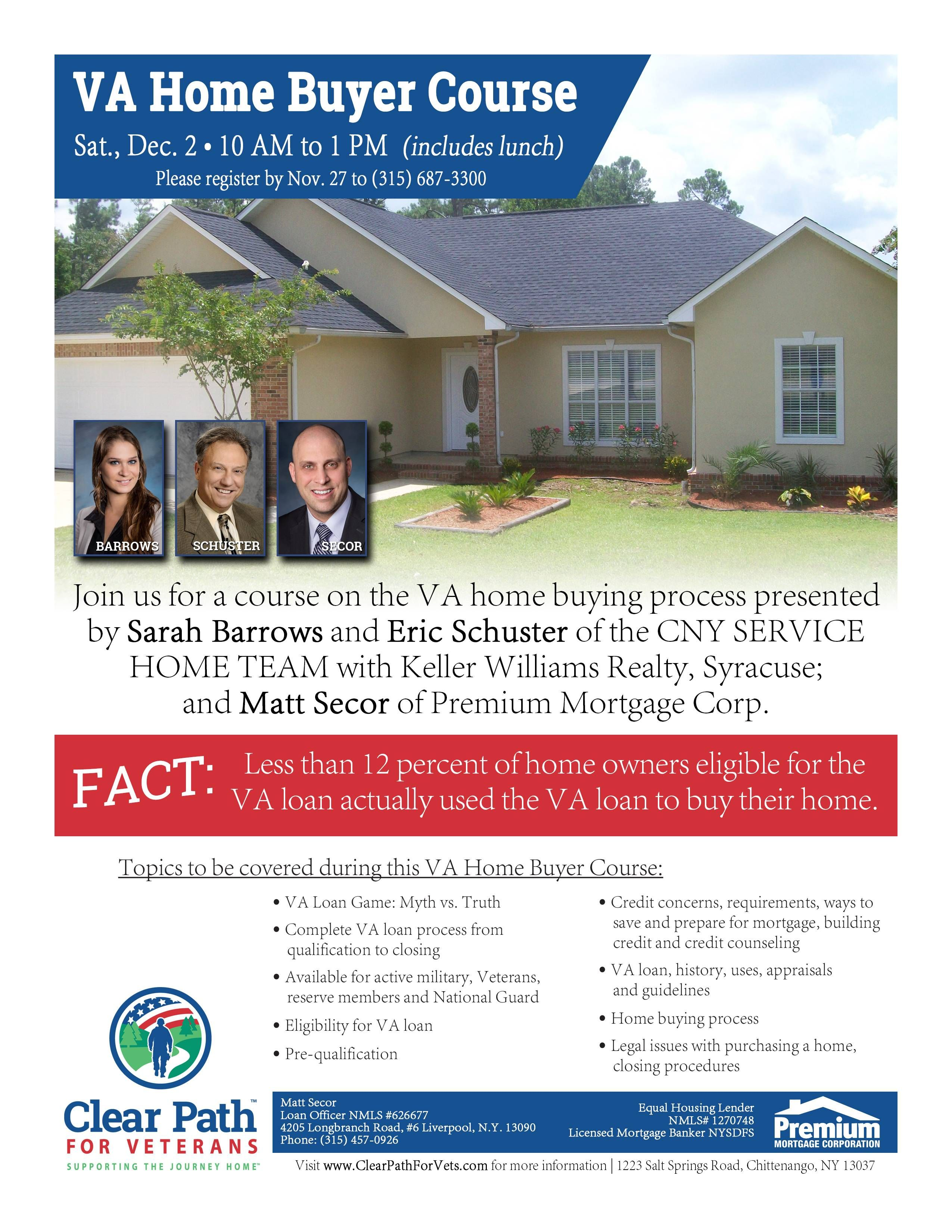 Va Home Buyer Course At Clear Path For Veterans With Images