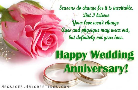 Wedding Anniversary Wishes And Messages