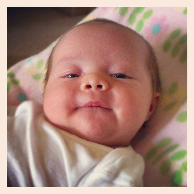 The happy baby!