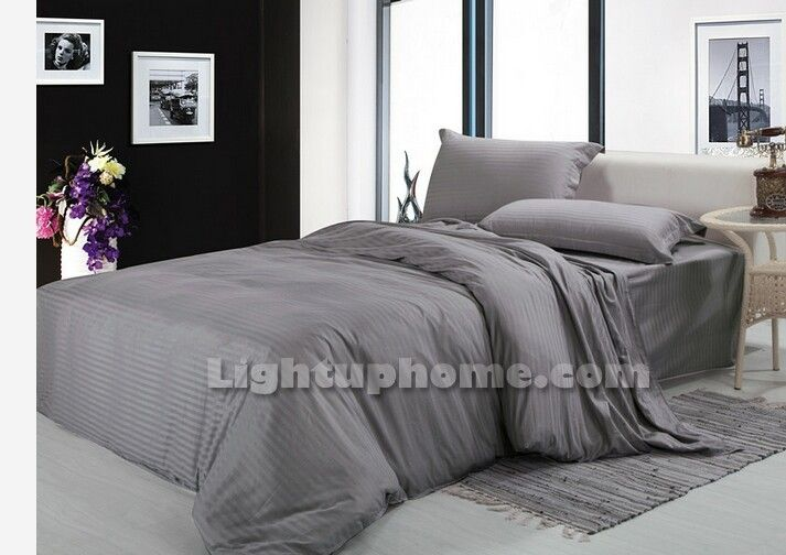 Yellow And Grey Twin Comforter Set: Home » Bedding Sets » Silver Grey Solid