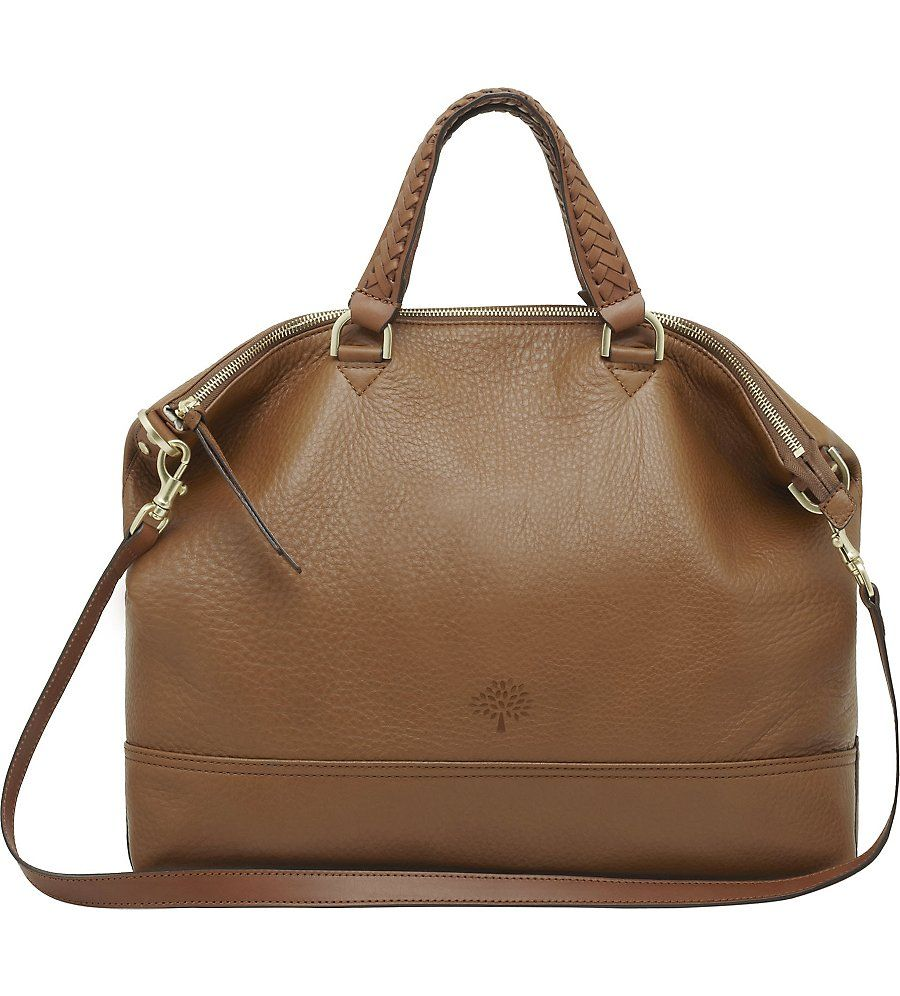 MULBERRY Effie spongy pebbled leather tote (Oak