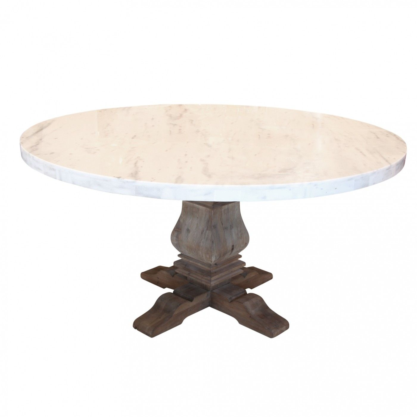 Lyon Round Marble Top Dining Table Breakfast Nook Ideas - Round marble breakfast table