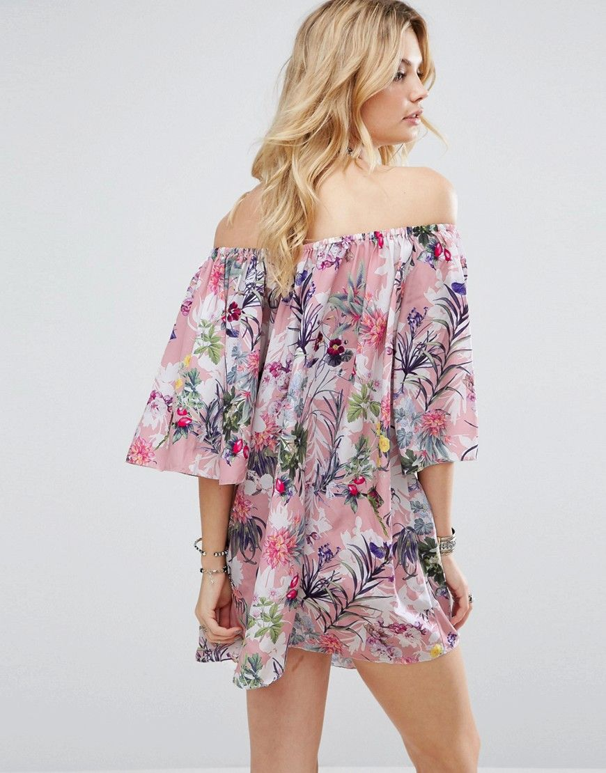 Cheap 100% Authentic Off Shoulder Allover Printed Smock Dress - Multi White Cove Tall Clearance Cheap Get Authentic Cheap Online Free Shipping Excellent Cheapest Online cgIxjd0T