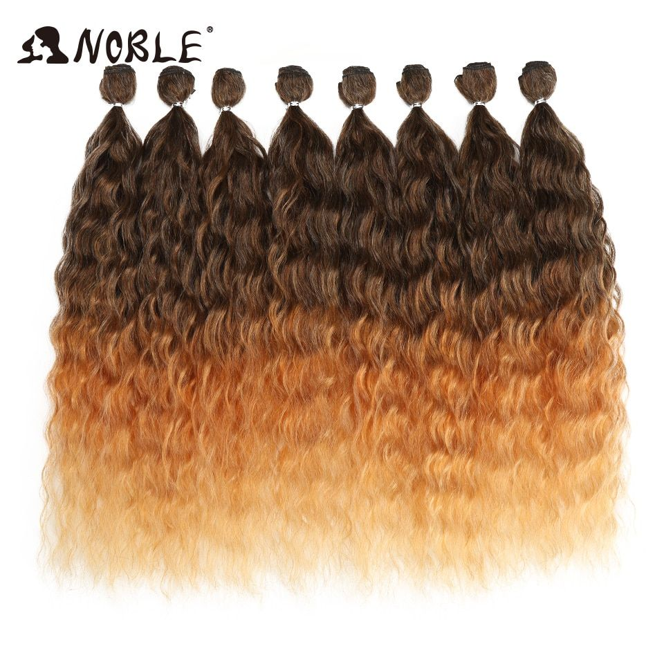 Noble Wave Hair Bundles With Closure Ombre Blonde Silver