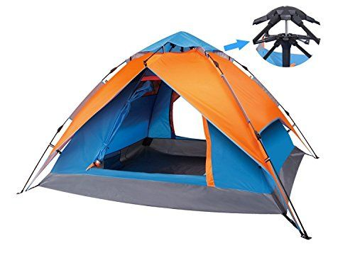 Yodo Automatic Pop up Tent for Outdoor C&ing Backpacking with Carry Bag for 2 Man or 3 Man Orange/ Blue - UKsportsOutdoors  sc 1 st  Pinterest & Yodo Automatic Pop up Tent for Outdoor Camping Backpacking with ...