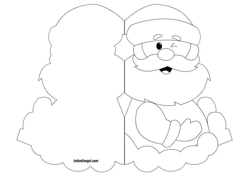 Biglietti Natale Da Colorare Babbo Natale Tuttodisegni Com