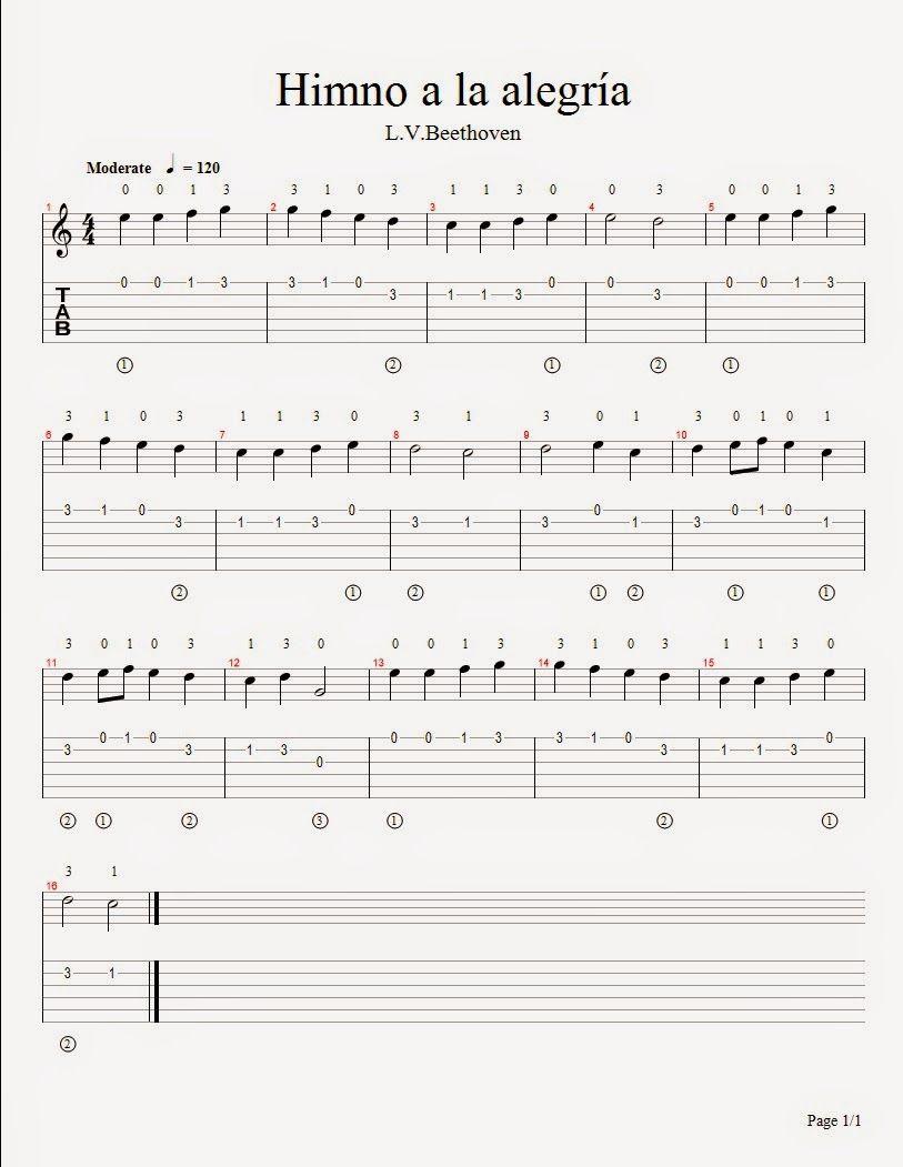 Blog De Partituras Para Guitara En Solfeo Y Tablatura De Diferentes Estilos Canciones De Guitarra Tablaturas Guitarra Partituras