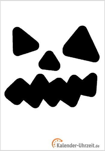 Halloween-Deko: Kürbis Fratze - Vorlage 1 #KalUhr | Deko und Essen ...