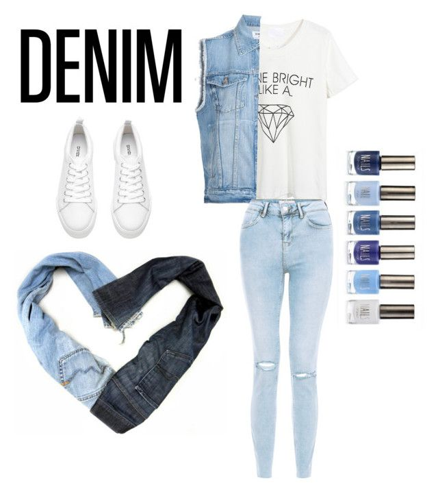 """Denim x Denim"" by trends-by-nora ❤ liked on Polyvore featuring WithChic, Frame Denim, New Look, Therapy and Denimondenim"