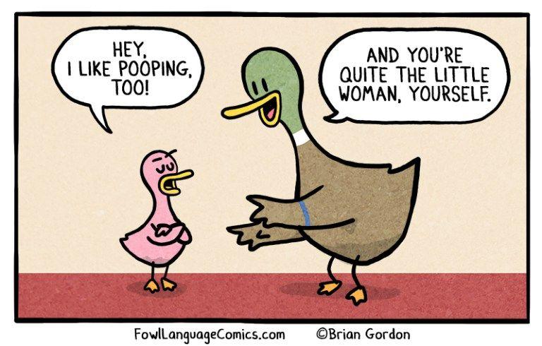 Pooping Feels Good Bonus Panel Fowl Language Comics Fowl Language Comics Mom Humor Funny Quotes
