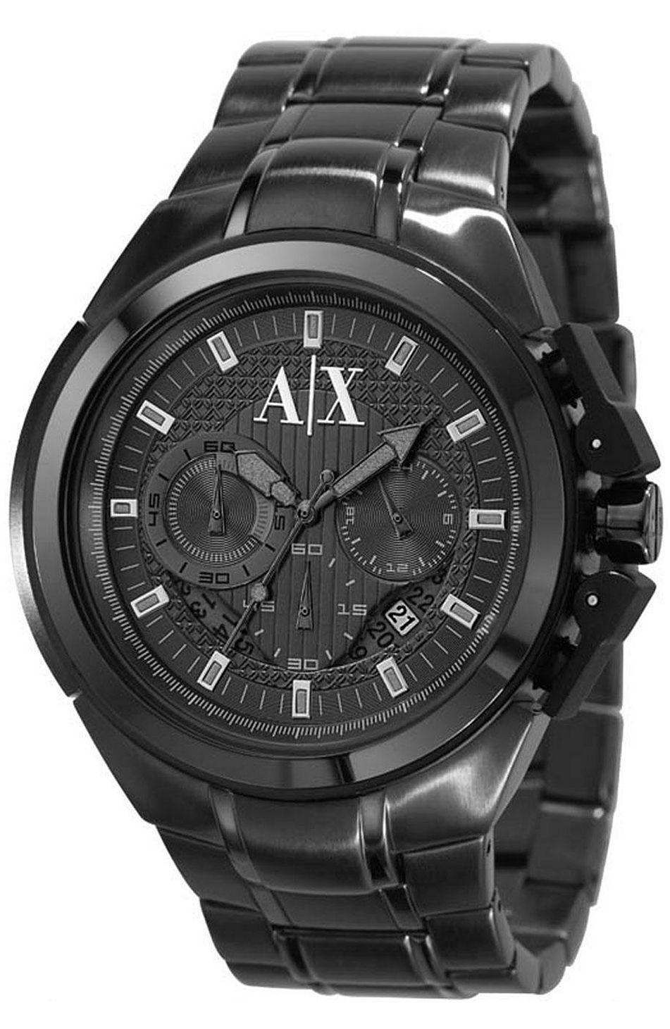 Armani Exchange - Black Chronograph Sport Watch   Watches ... 894f10f7ab