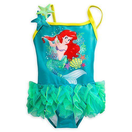 Disney Store Princess The Little Mermaid Ariel One PC Swimsuit Girl Size 5//6