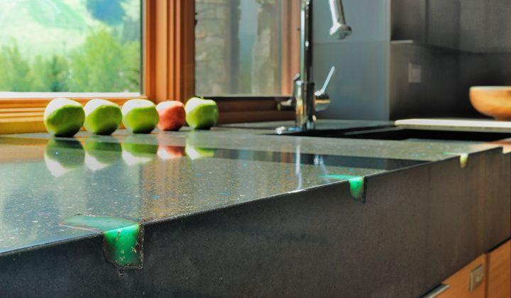 Edge Stones Concrete Countertop Mix Recycled Glass Countertops