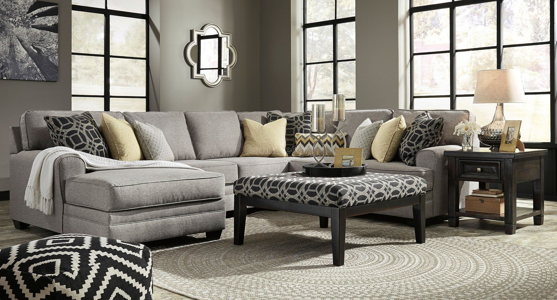 Cresson Pewter Modular Sectional Set BenchCraft