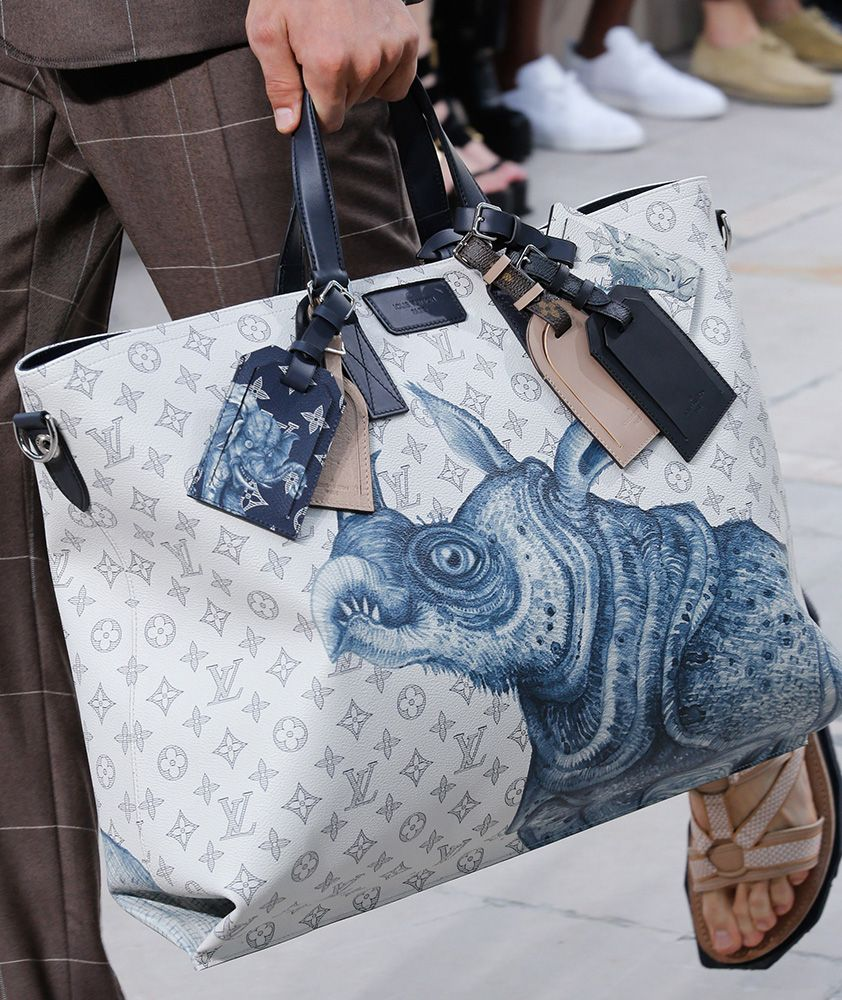 louis vuitton bags 2017. for spring 2017, louis vuitton took its men\u0027s bags on a fantastical storybook safari 2017