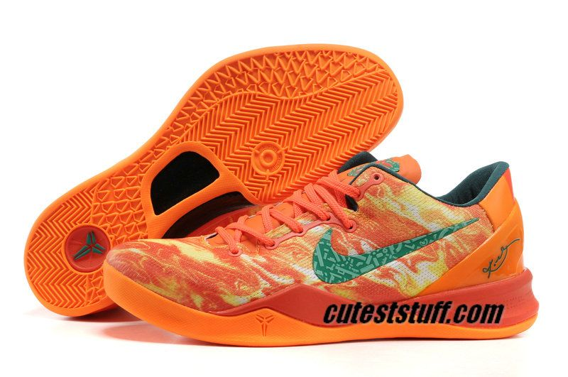 Basketball Shoes Kobe 8 Elite Bright Orange New Green $57.96