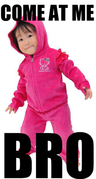 repinning purely because G had a super cute pink velour warm up suit at this age.  She looked this tough too ;)