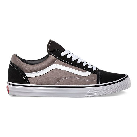 the latest b8e21 77f3c Zapatillas Vans Old Skool Negra Gris linea Blanca (z9334fe) 15   VANS en  2019   Pinterest   Black canvas shoes, Old skool black y Vans sneakers