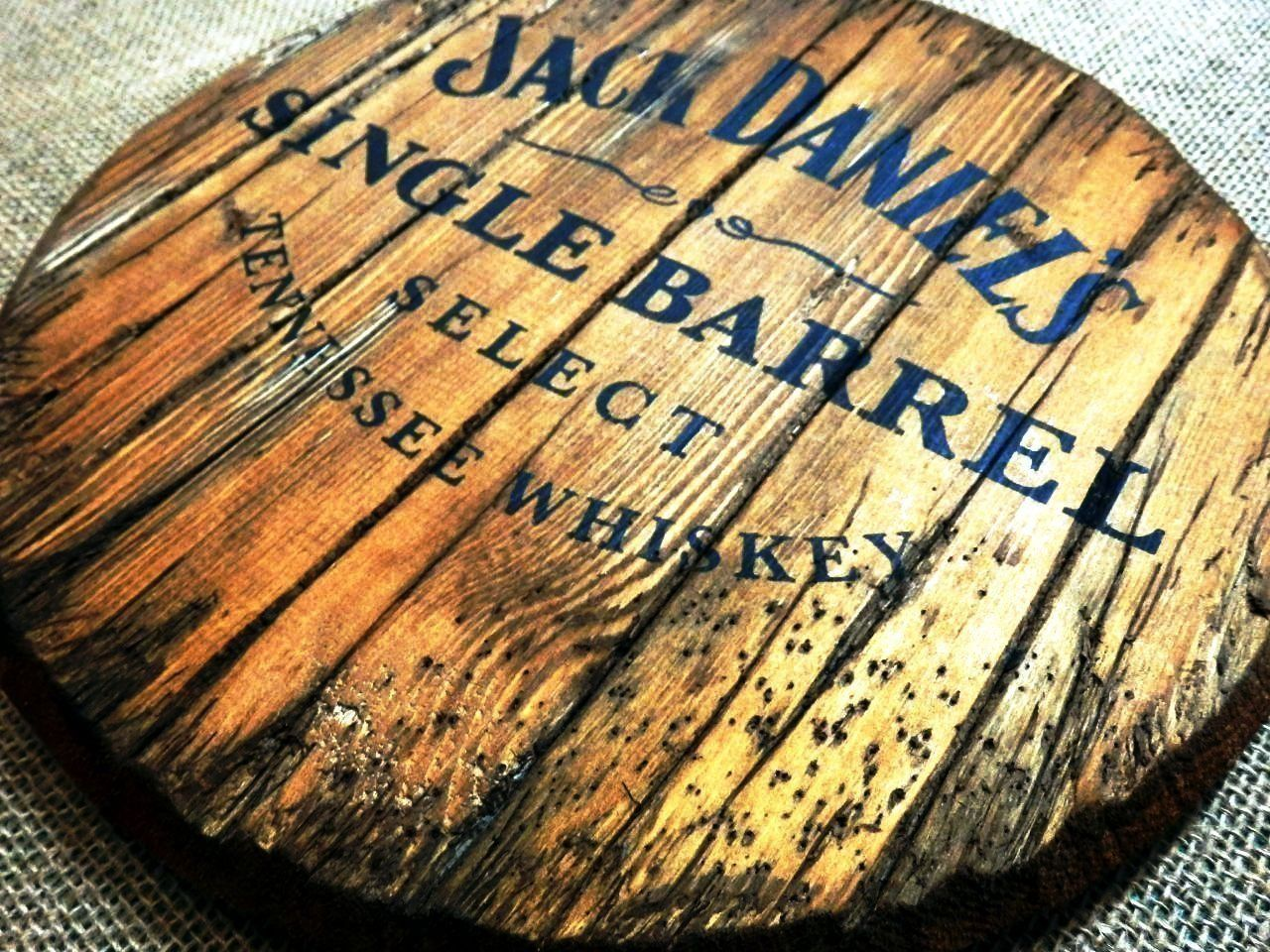 Jack Daniels personalized decorative sign - whiskey barrel top ...