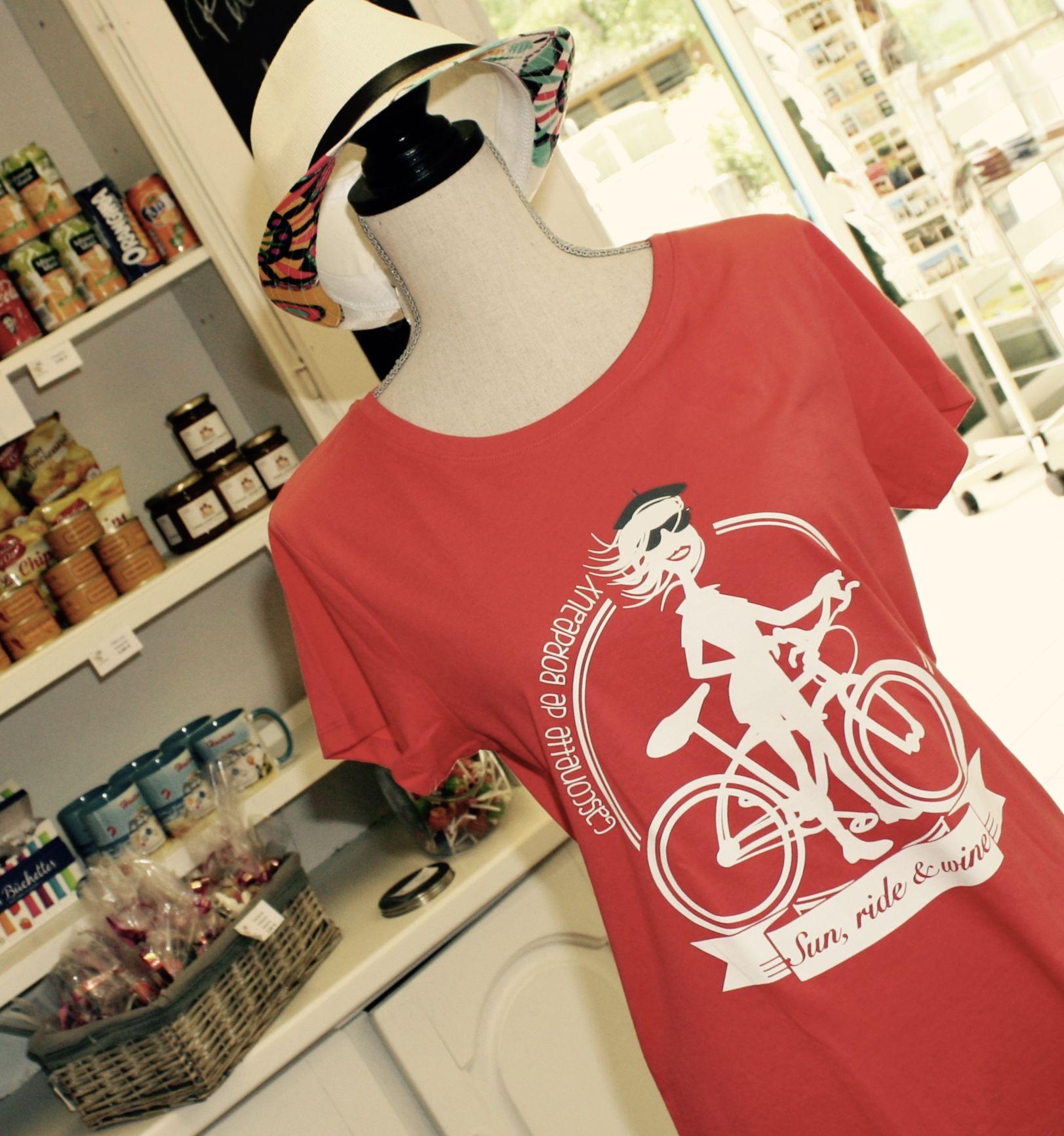 """T-shirts Femme :  """"Gasconette de Bordeaux"""" rose"""