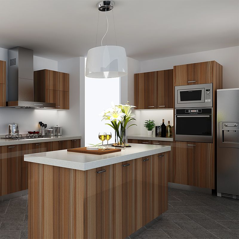 Best Kitchen Cabinets Wood Grain Melamine Op14 M08 Curved 640 x 480