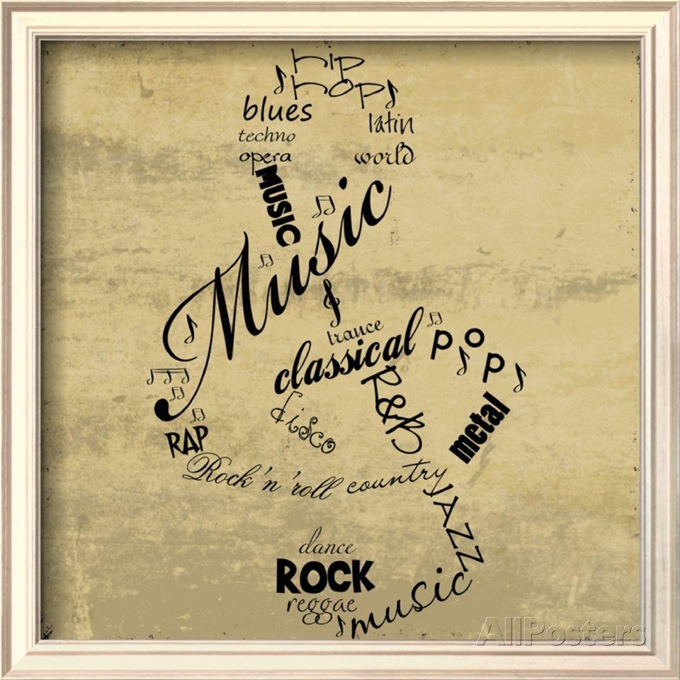 Music Note Framed Art Print at AllPosters.com | Music & Musicians ...