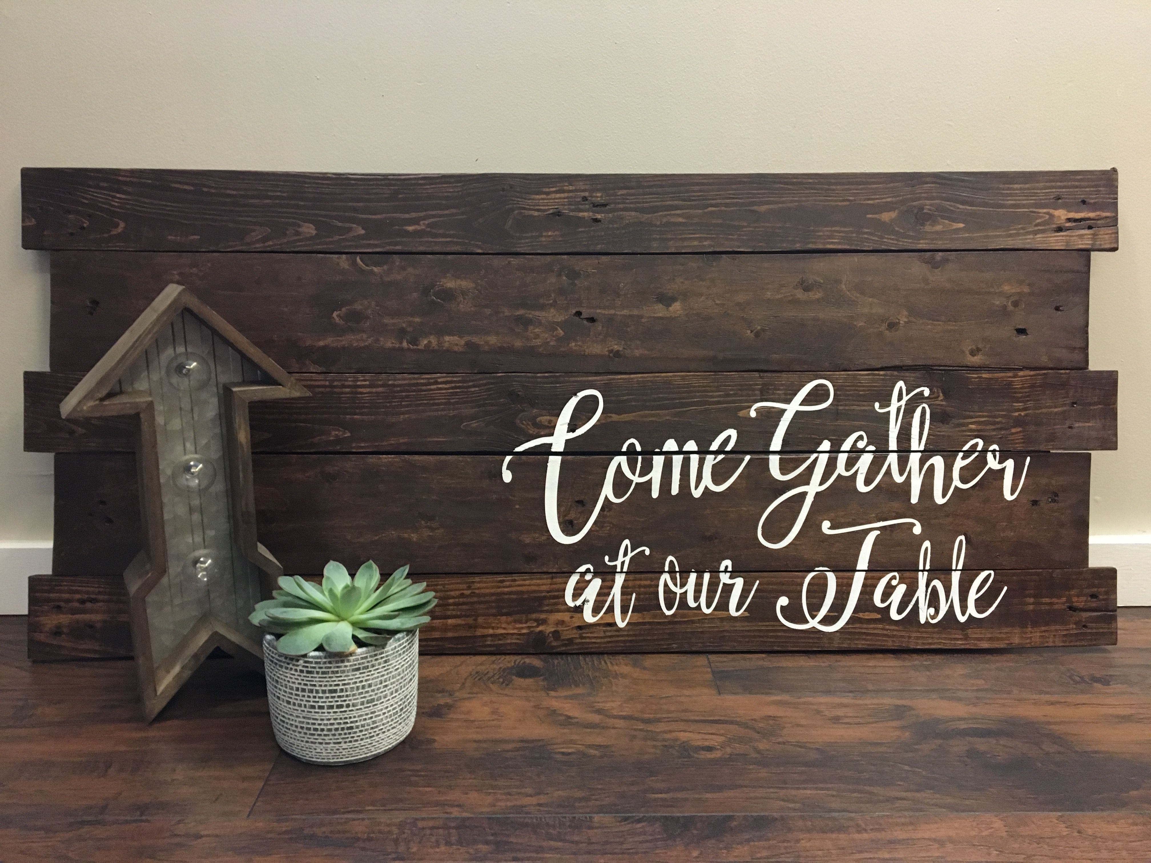 Custom Kitchen Sign Made By Knottywoodboutique.