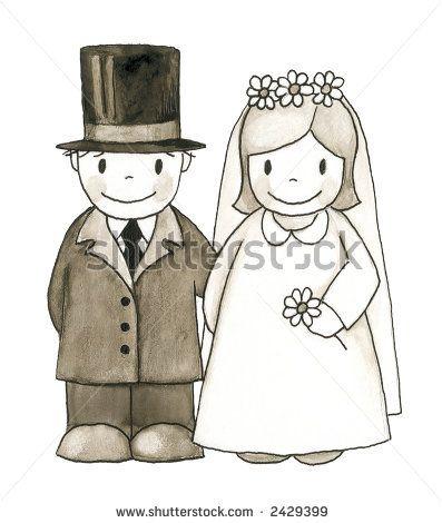 Wedding Illustrations   wedding illustration on white background - stock photo