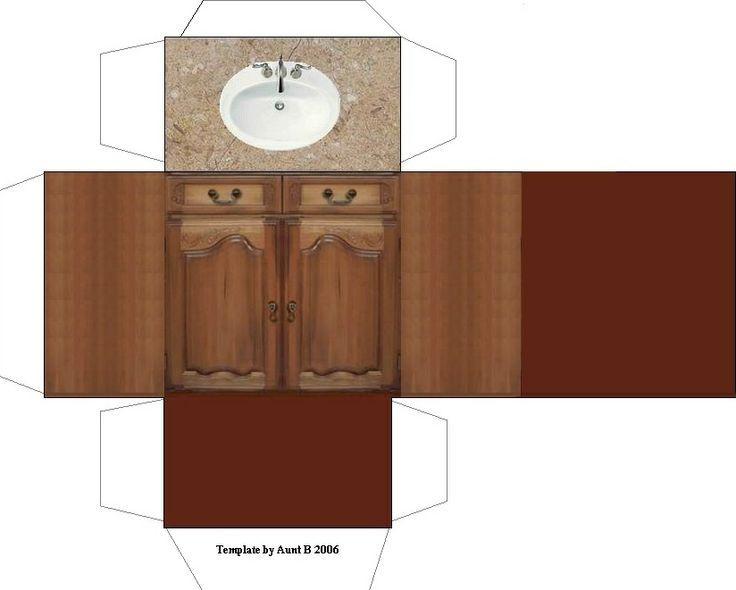 Lavamanos maquetas pinterest miniaturas muebles y for Muebles de cocina para armar