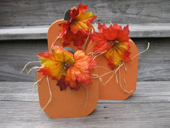 3 Pumpkins by SweetTeaToo on Etsy, $15.00