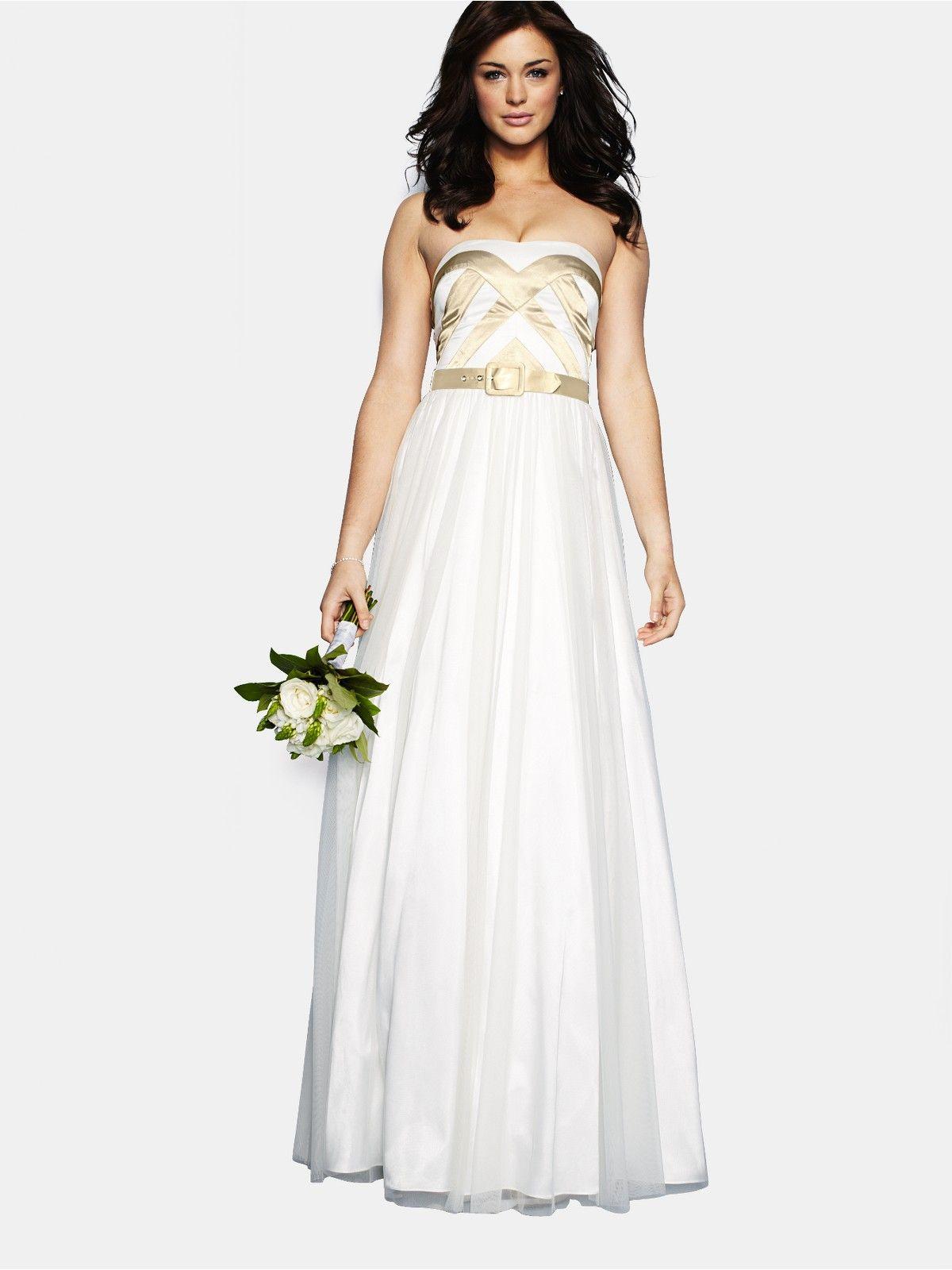 Strapless Prom Wedding Dress Very.co.uk