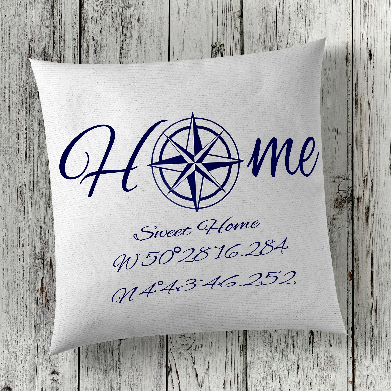 Coordinates Cushion Cove Longitude And Latitude Pillow