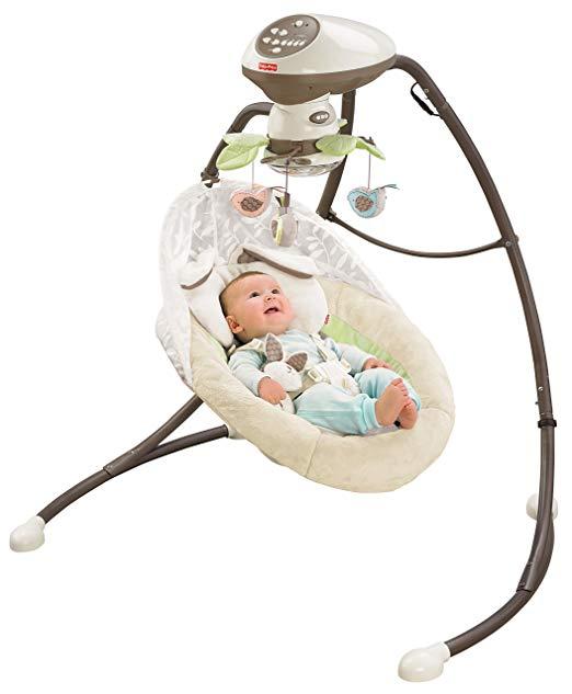 Amazon Com Fisher Price Snugabunny Cradle N Swing With Smart Swing Technology Baby Cradle Swing Portable Baby Swing Fisher Price Baby