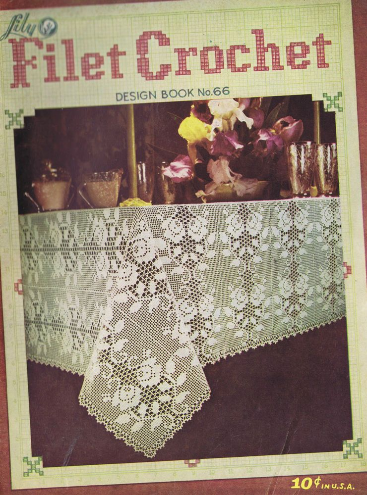 Vintage filet crochet patterns tablecloth luncheon sets doilies lily vintage filet crochet patterns tablecloth luncheon sets doilies lily mills 1952 dt1010fo