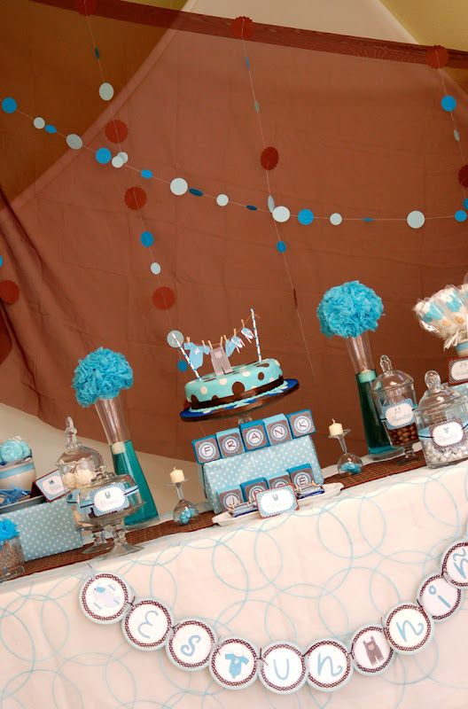 Blue & Brown Baby Shower | A to Zebra Celebrations | Baby ...