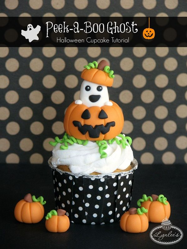decorating halloween cupcakes make this cute peek a boo ghost