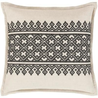 Artistic Weavers Chilton Poly Euro Pillow Black In 40 Home Delectable Home Depot Decorative Pillows