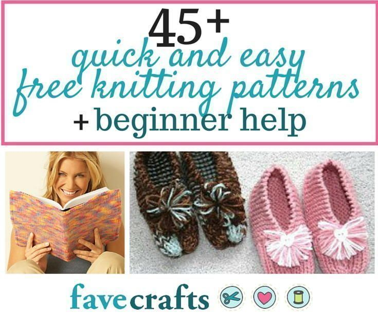 45 Easy Free Knitting Patterns for Beginners   FaveCrafts ...