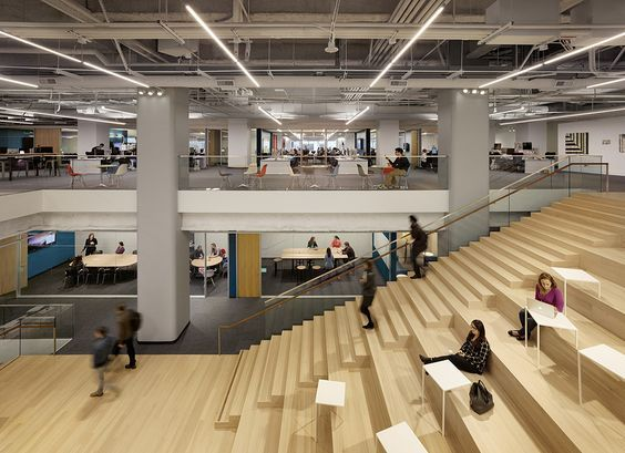 Stadium seating/staircase at Square's HQ. | Stairs Worth ...