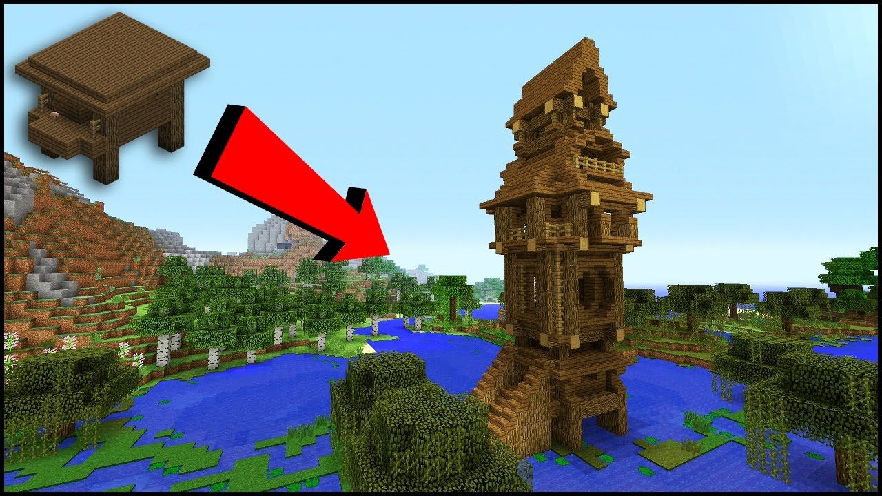 Transforming a WITCH HUT into a WITCH TOWER!! Minecraft Tutorial