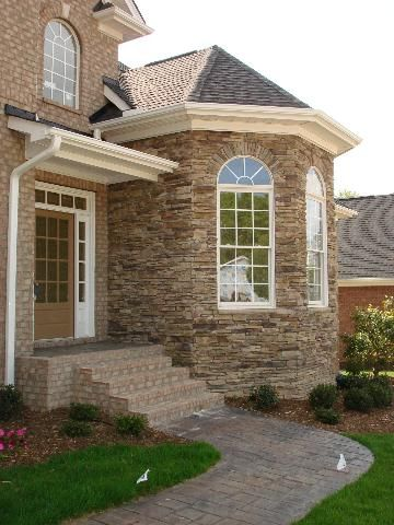 Image Result For Ledger Stone Stucco House Exterior Stone Exterior Houses Stucco Homes Exterior Stone