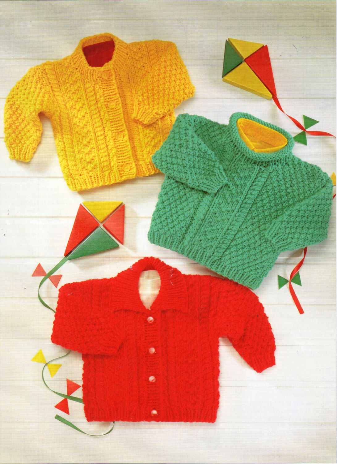 Baby Cardigans Sweater Knitting Pattern PDF Jacket with collar roll ...