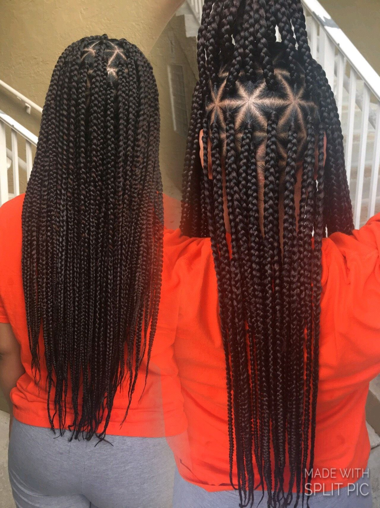 Box Braids With Triangle Parts For Sis Hair Styles