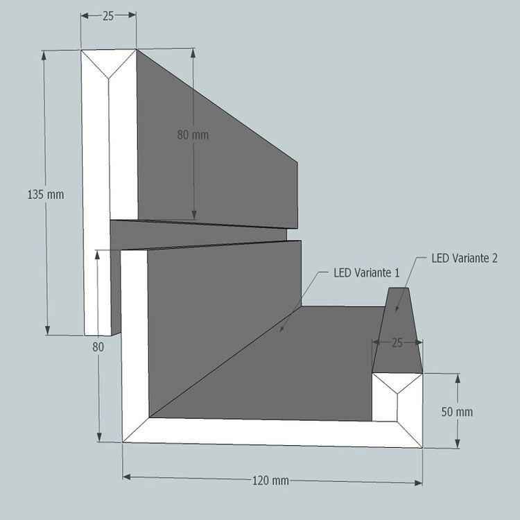 LICHTVOUTE BELLA \/ für Ausleuchtung der Decke und Raum mit LED - decke styroporplatten schnell sauber preiswert