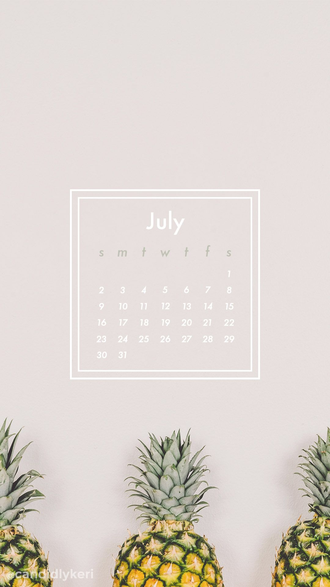 Pineapple fun geo shape summer July calendar 2017 wallpaper you can download for free on the blog! For any device; mobile, desktop, iphone, android!