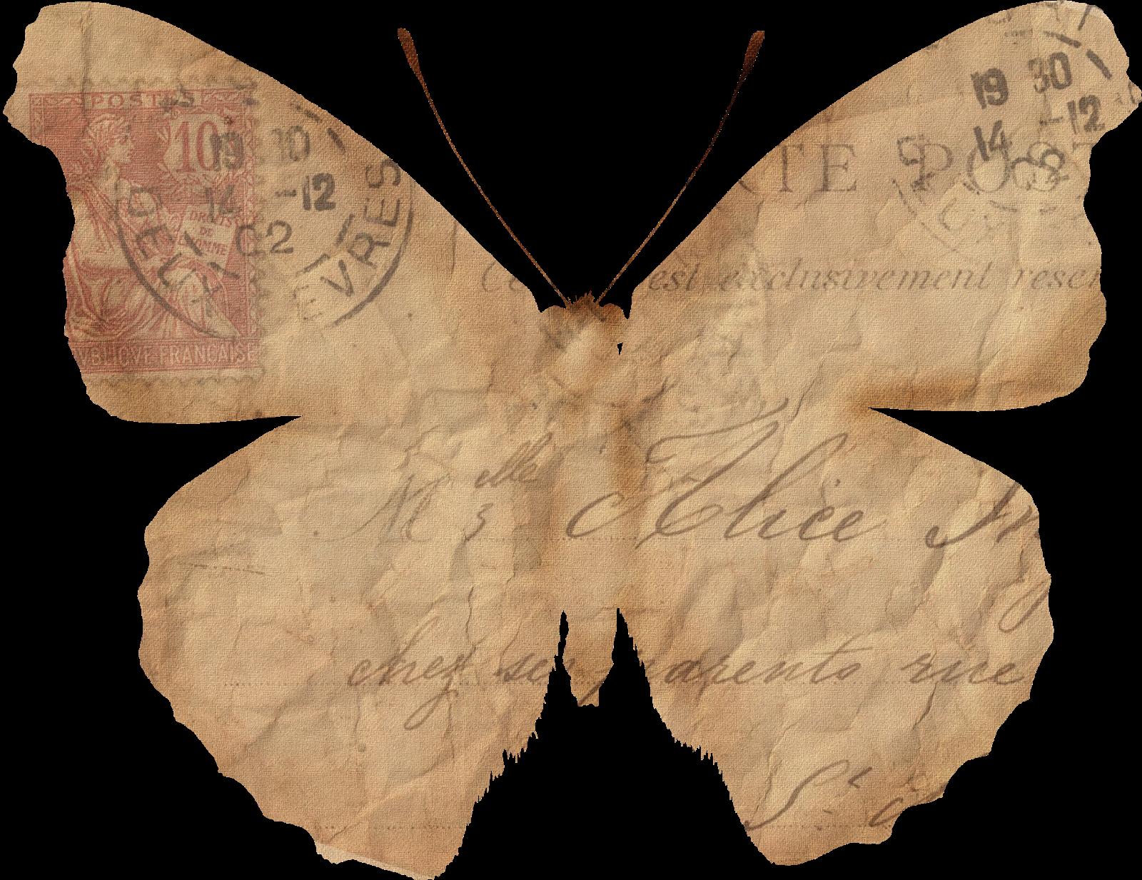 Vintage paper butterflies 27