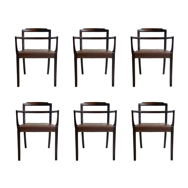 Fantastic Ole Wanscher Dining Chairs Set Of Six Denmark 1965 Ocoug Best Dining Table And Chair Ideas Images Ocougorg