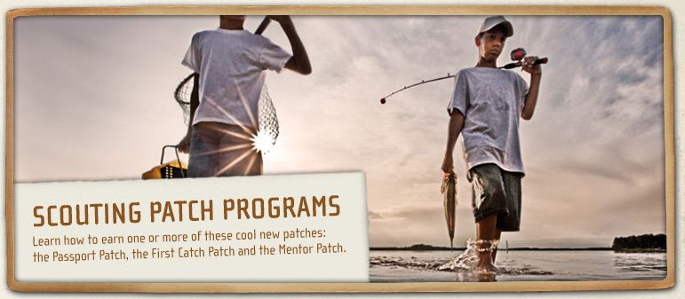 Thank you for your interest in the Take Me Fishing™ Scouting Patch Program. Unfortunately, the Scouting Patch Program has been suspended; therefore we will be discontinuing patch fulfillment, effective December 31, 2013.